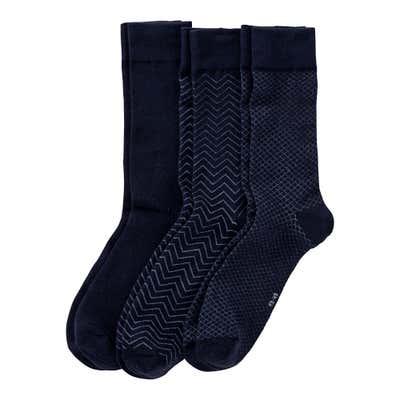 Herren-Socken mit schickem Muster, 3er Pack
