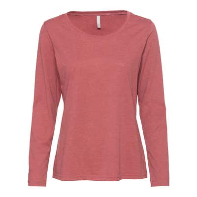 Damen-Shirt in dezenter Melange-Optik