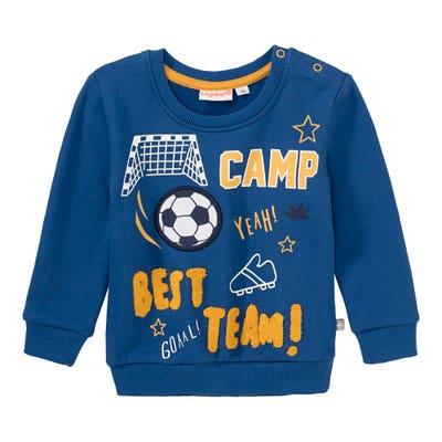 Baby-Jungen-Sweatshirt mit Fußball-Frontaufdruck