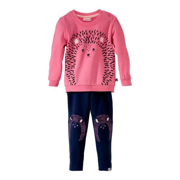 Baby-Mädchen-Sweatshirt und -Leggings, 2-teilig