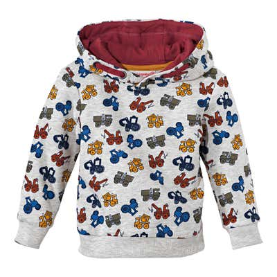 Baby-Jungen-Sweatshirt mit coolen Baufahrzeugen