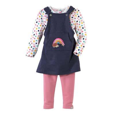 Baby-Mädchen-Kleid mit Shirt und Leggings