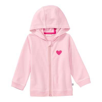 Baby-Mädchen-Sweatjacke mit Herz-Aufdruck