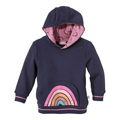 Baby-Mädchen-Sweatshirt mit süßer Kängurutasche