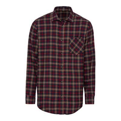 Herren-Flanellhemd mit Brusttasche