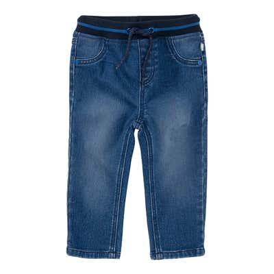 Baby-Jungen-Jeans mit gestreiftem Ripp-Bund