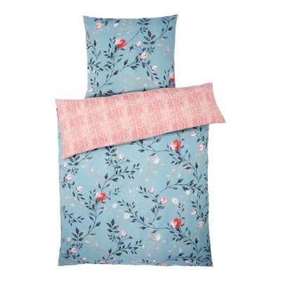 Polycotton-Bettwäsche mit Blumen-Design