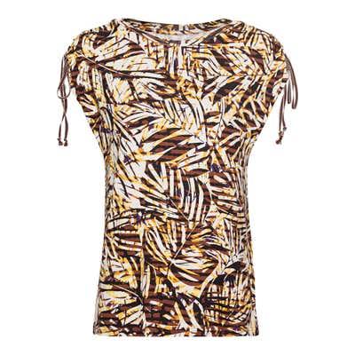 Damen-T-Shirt mit Schnürung an den Schultern