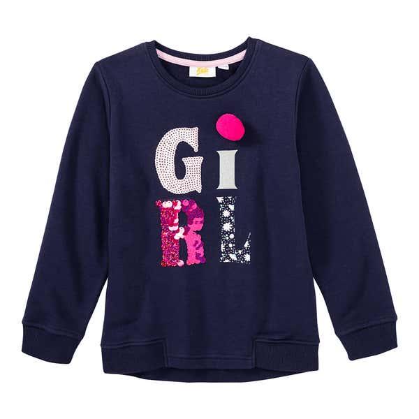 Mädchen-Sweatshirt mit Pailletten