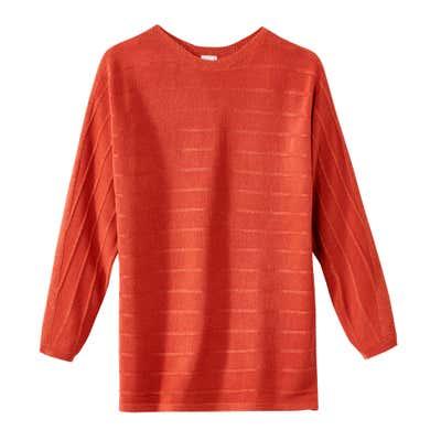 Damen-Pullover mit modernem U-Boot-Ausschnitt