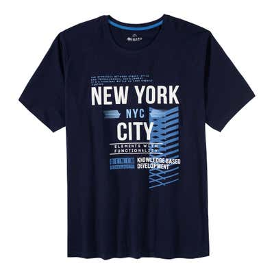 Herren-T-Shirt mit New-York-City-Frontaufdruck, große Größen