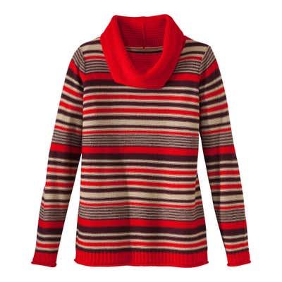 Damen-Pullover mit modischem Wasserfallkragen