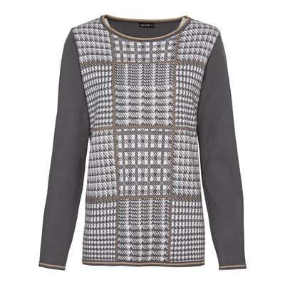Damen-Pullover mit Karodesign