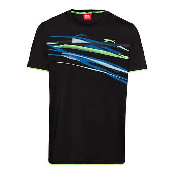 Slazenger Herren-Fitness-T-Shirt mit trendigem Aufdruck