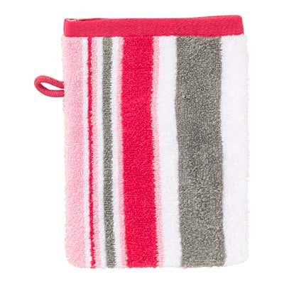 Waschhandschuh mit modernen Streifen, 16x21cm