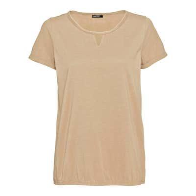 Damen-T-Shirt mit Metalloptikperlen