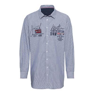 Herren-Hemd mit dezentem Streifenmuster, große Größen
