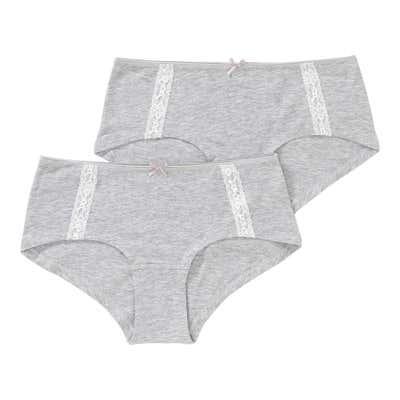 Damen-Panty mit Spitzenbändern, 2er Pack