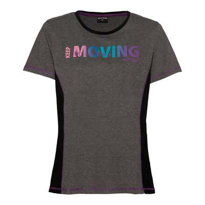 Slazenger Damen-Fitness-T-Shirt mit Kontrast-Einsätzen