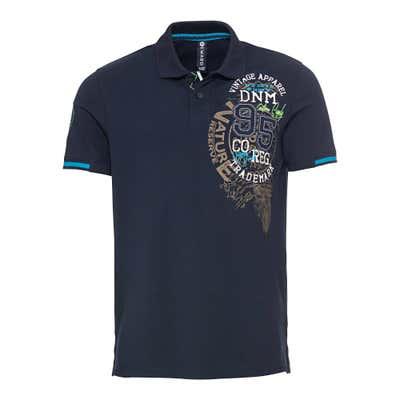 Herren-Poloshirt mit modernem Aufdruck