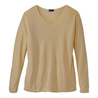 Damen-Pullover mit V-Ausschnitt