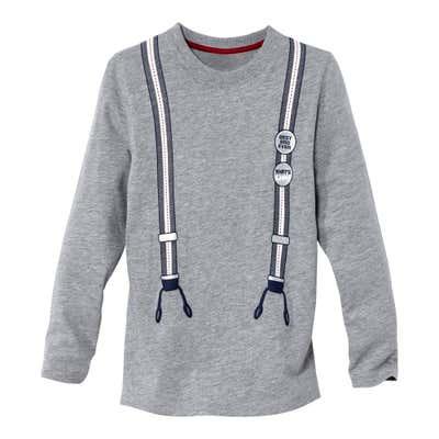 Kinder-Jungen-Shirt mit aufgedruckten Hosenträgern