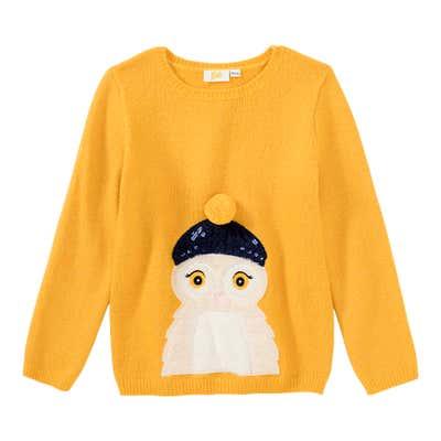 Mädchen-Pullover aus Coral-Fleece