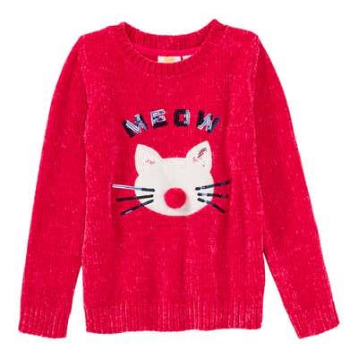 Mädchen-Pullover mit Pailletten