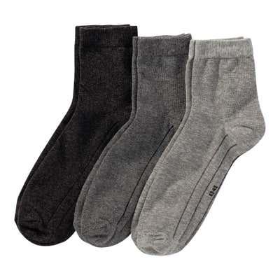 Herren-Socken mit Kontrast-Streifen, 3er Pack