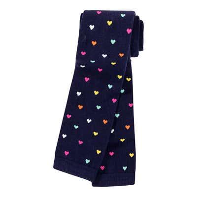 Mädchen-Leggings mit bunten Herzchen