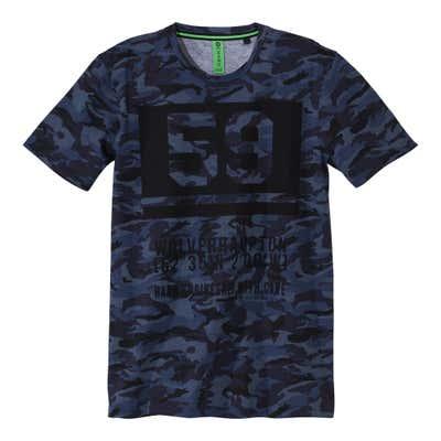 Herren-T-Shirt in angesagter Camouflage-Optik
