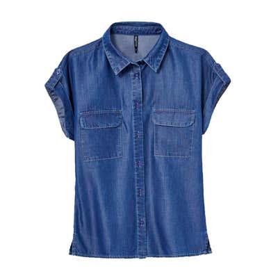 Damen-Bluse mit 2 Brusttaschen