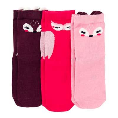 Mädchen-Socken mit Baumwolle, 3er Pack
