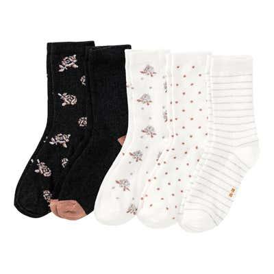 Damen-Socken mit Glitzer-Effekten, 5er Pack