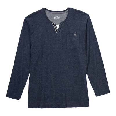 Herren-Shirt im Henley-Style, große Größen