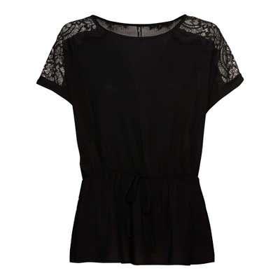 Damen-Bluse mit Spitze an der Schulter