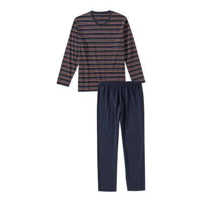 Herren-Schlafanzug mit V-Ausschnitt, 2-teilig