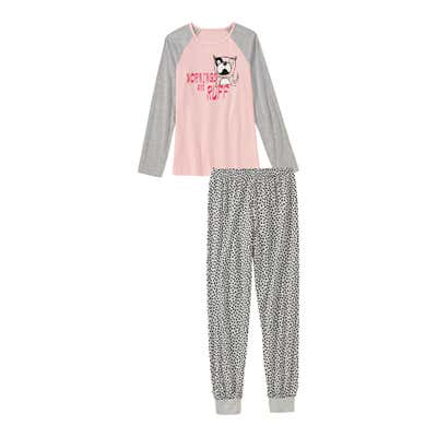 Mädchen-Schlafanzug mit Hunde-Motiv, 2-teilig