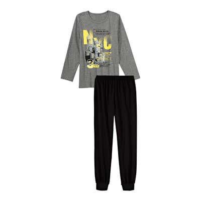 Jungen-Schlafanzug mit Großstadt-Motiv, 2-teilig
