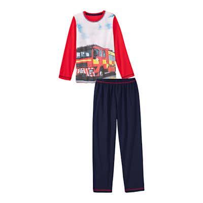 Jungen-Schlafanzug mit Fotodruck, 2-teilig