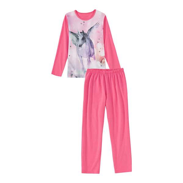 Mädchen-Schlafanzug mit Einhorn-Pegasus, 2-teilig