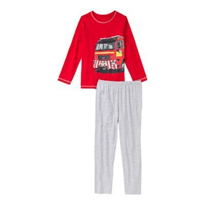 Jungen-Schlafanzug mit Feuerwehrauto, 2-teilig
