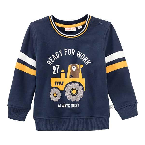 Baby-Jungen-Sweatshirt mit Traktor-Aufdruck