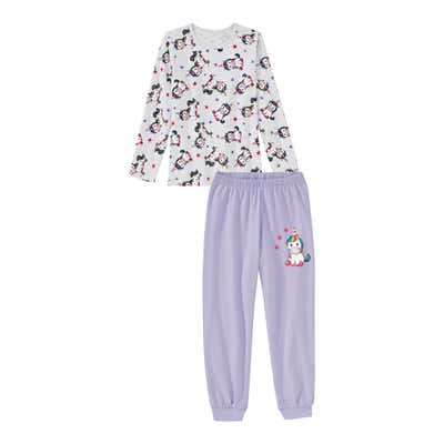 Mädchen-Schlafanzug mit Einhorn-Muster, 2-teilig
