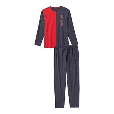 Herren-Schlafanzug mit Farbkontrast, 2-teilig