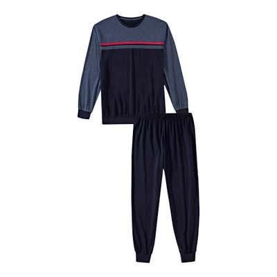 Herren-Schlafanzug mit Baumwolle, 2-teilig