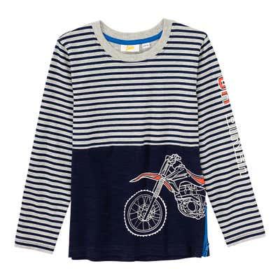 Jungen-Shirt mit Motorrad-Aufdruck