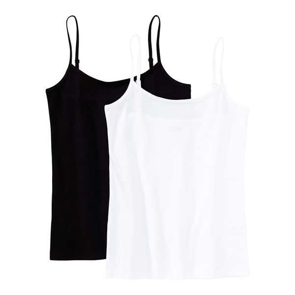 Mädchen-Unterhemd mit Spaghetti-Trägern, 2er Pack