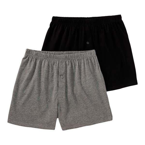 Herren-Boxershorts mit modischem Muster, 2er Pack