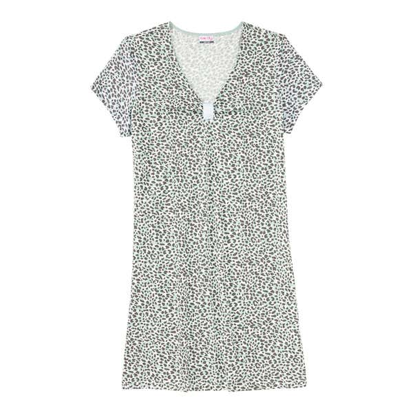Damen-Nachthemd mit Leo-Muster